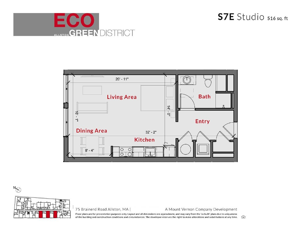 Eco Allston Floor Plans