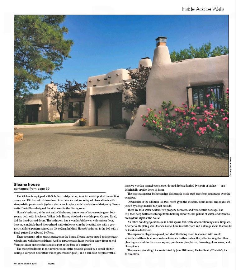 HOME Santa Fe Real Estate Guide. Eric Sloane Home